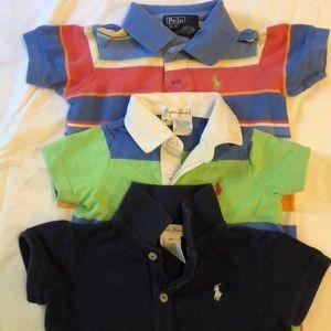 3 Polo baby onesies